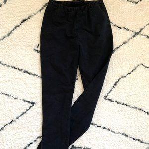 Thick cotton legging - black